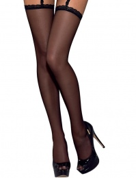 Obsessive - Slevika stockings - Black - L/XL photo