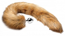 Tailz - Extra Long Mink Tail Anal Plug - Brown photo