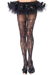 Leg Avenue - Floral Vine Net Pantyhose photo