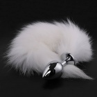 MT - Anal Plug S-size with White fur tail
