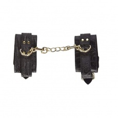 GreyGasms - Captured Embroidered Wrist Cuffs - Black photo