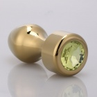 MT - Anal Plug 107x40mm - Golden/Yellow