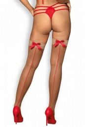 Obsessive - S808 stockings - Beige - S/M photo