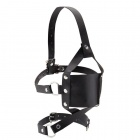 Shots - Leather Mouth Gag - Black