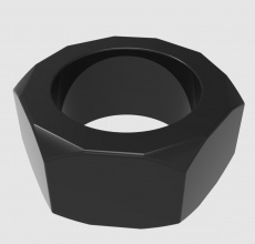 Chisa - Nust Bolts Cock Ring - Black photo