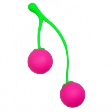 Frisky - Charming Cherries Silicone Kegel Balls - Pink photo