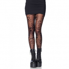 Leg Avenue - Pirate Booty Skull Net Tights photo