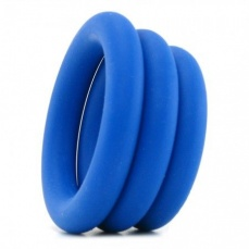 Iconbrands - Simply Silicone 3 Ring Set For Him photo