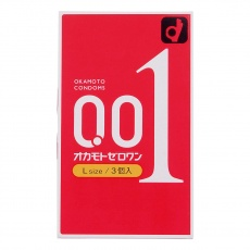 Okamoto - Zero One 0.01 L-Size 3' Pack photo