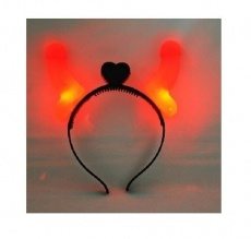 HHT - Glowing Dicky Devil Horns Hairband photo