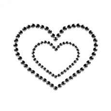 Bijoux Indiscrets - Mimi Heart Nipple Covers - Black photo