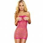 Hustler - Fencenet Micro Mini Dress - Pink