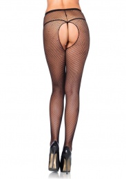 Leg Avenue - Crotchless Fishnet Pantyhose - Plus Size 照片