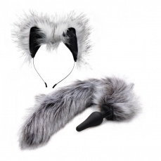 Tailz - Wolf Tail and Ears Set - Grey photo