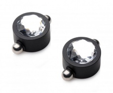 Master Series - Magnetic Diamond Nipple Clamps - Black photo
