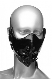 Master Series - Lektor Zipper Mouth Muzzle - Black photo