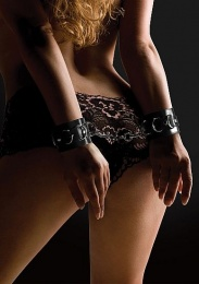 Shots - Leather Cuffs - Black photo