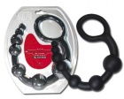 Boss - Big  Silicone Anal Beads - Bomb - Black