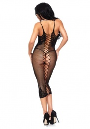 Leg Avenue - Seamless Dual Strap Halter Dress - Black