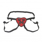 Lux Fetish - Red Heart Strap-on Harness - Red