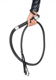 Leg Avenue - Rhinestone Handle Vixen Whip - Black photo