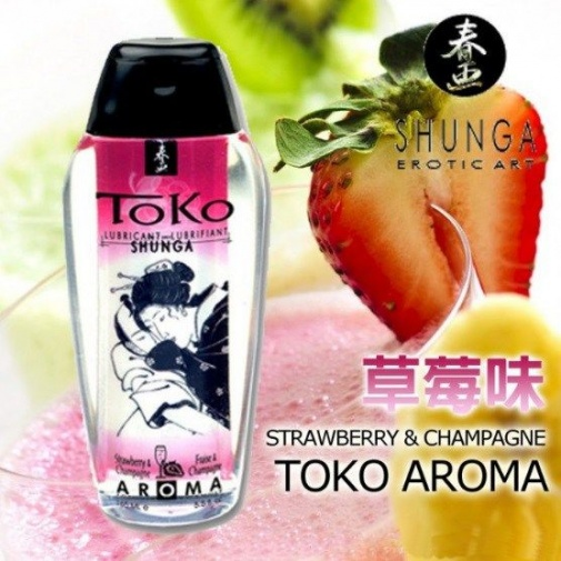 Shunga - Toko Aroma Lubricant 165ml - Sparkling Strawberry Wine photo