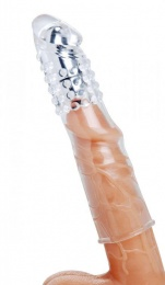 Size Matters - Penis Vibro Sleeve with Bullet - Clear photo