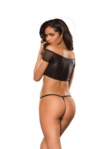 Allure - Off The Shoulders Top & G-String - Black - S/M photo